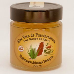 Aloe vera from Fuerteventura and agave syrup