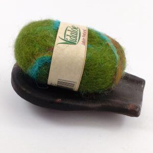 Aloe vera soap felted with sheep wool from Austria